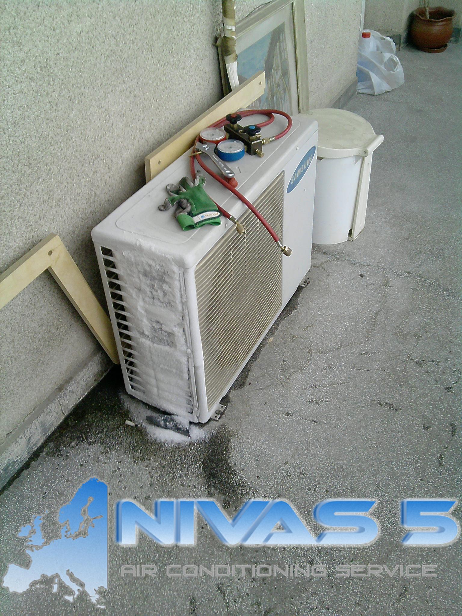 Замръзнал климатик без фреон
