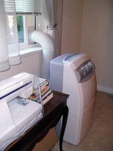 мобилен климатик в хола